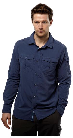 Craghoppers Nosilife Adventure Long-Sleeved Shirt Men Dusk Blue